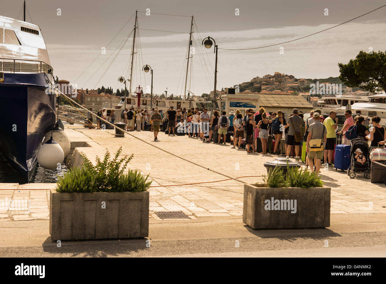 Life in summer at the island of Luvud and Cipan, close to Dubrovnic. Stock Photo