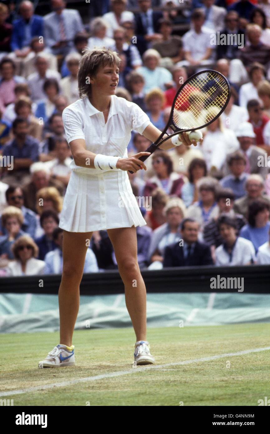 Tennis - 1984 Wimbledon Championships - Women's Singles - Anne Hobbs - All England Lawn Tennis and Croquet Club - Stock Image