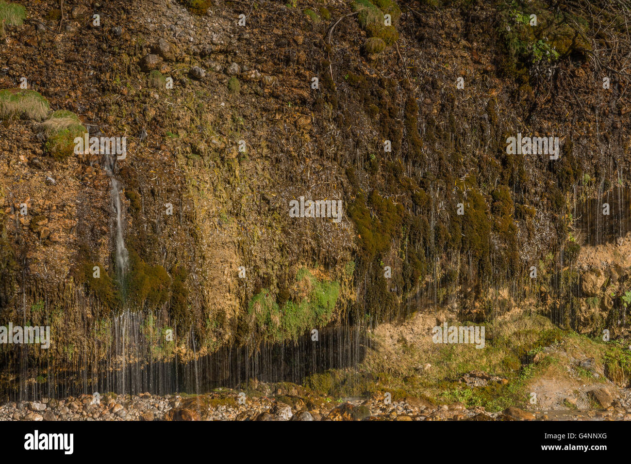 Water curtain in Maria Alm, Austria - Stock Image