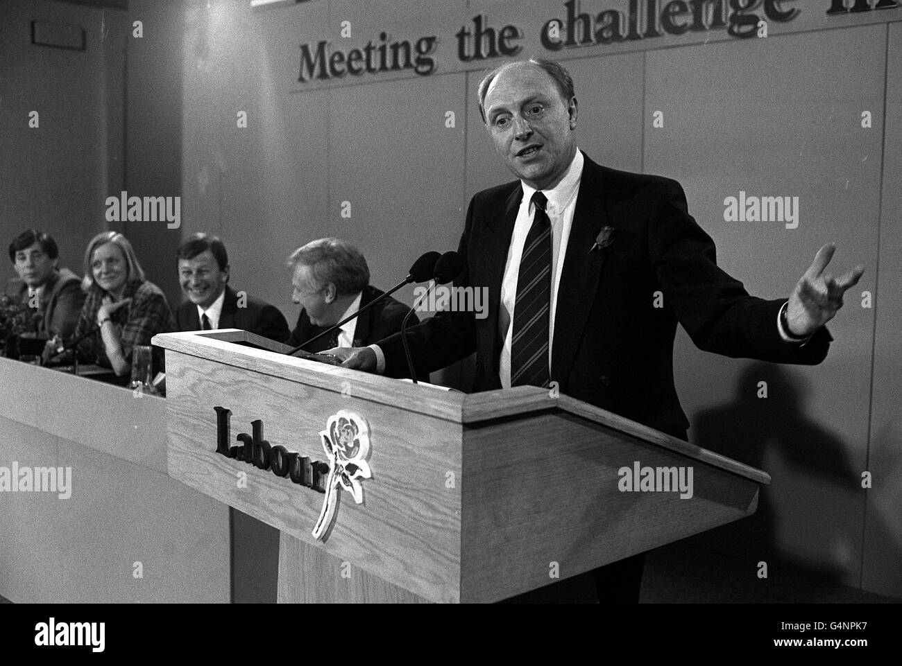 Mr Neil Kinnock/politics - Stock Image