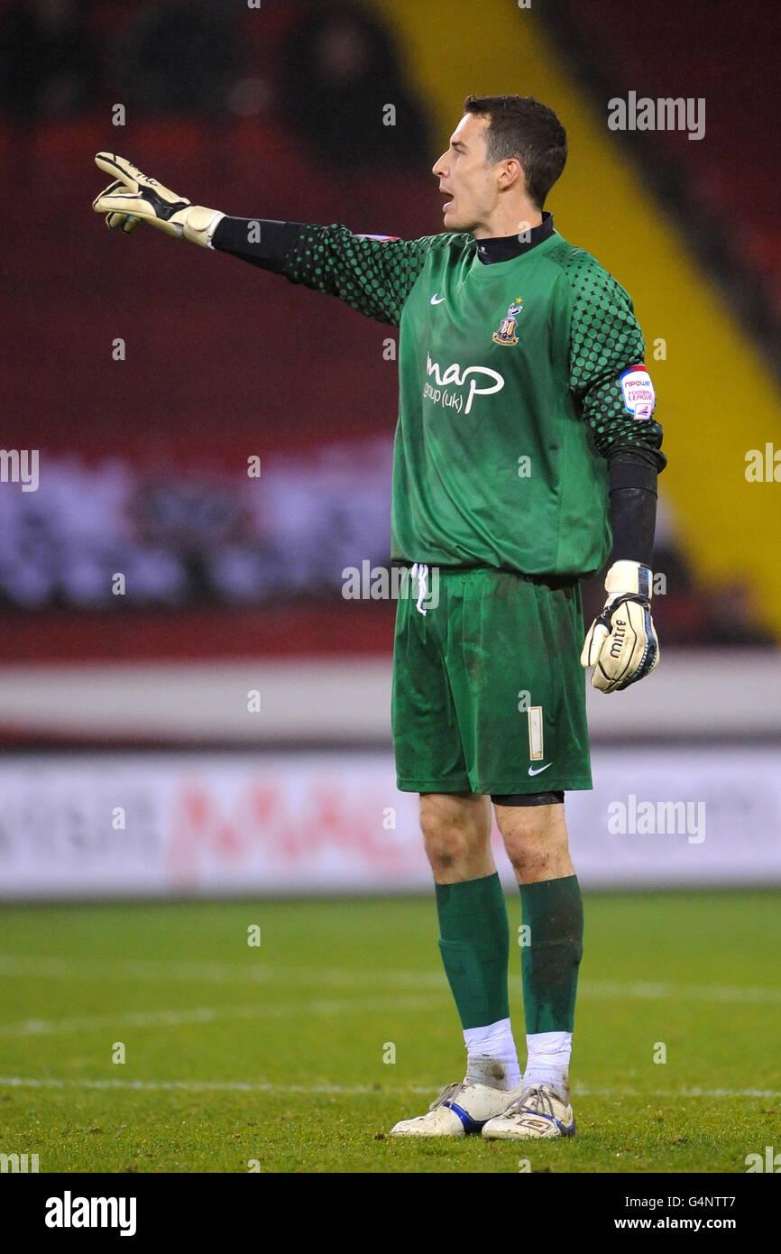 Soccer - Johnstone's Paint Trophy - Northern Section - Sheffield United v Bradford City - Bramall Lane - Stock Image