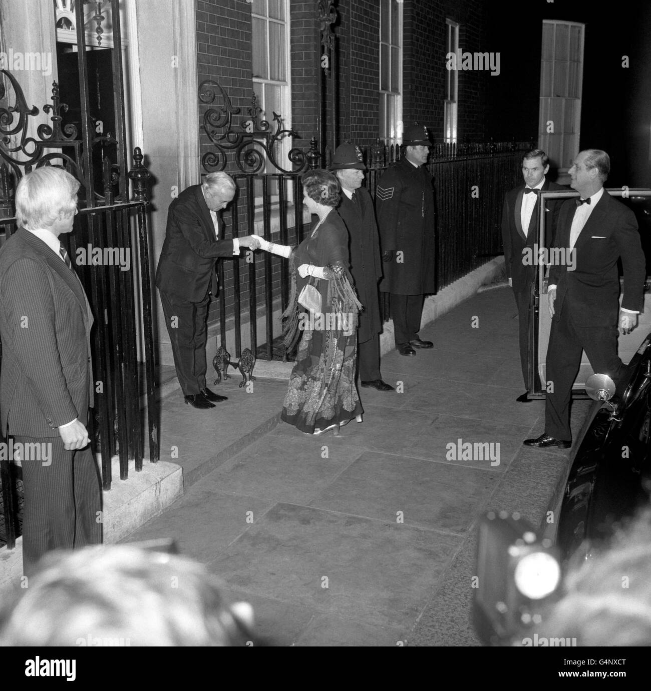 Royalty - Queen at 10 Downing Street - London - Stock Image