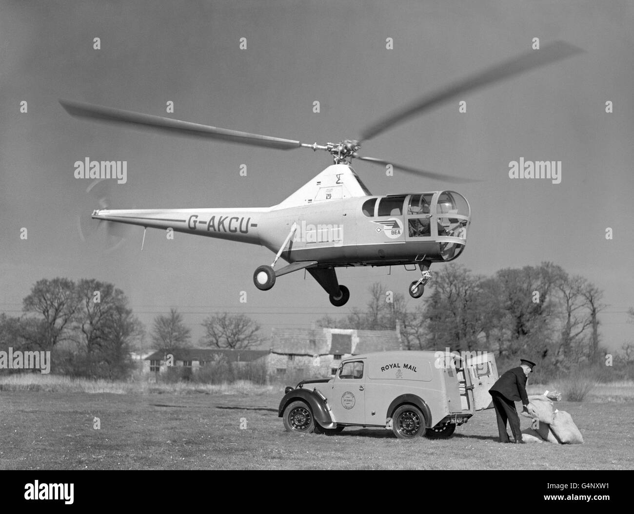 British Postal Service - Royal Mail - Air Mail Experiment - Yeovil - Stock Image