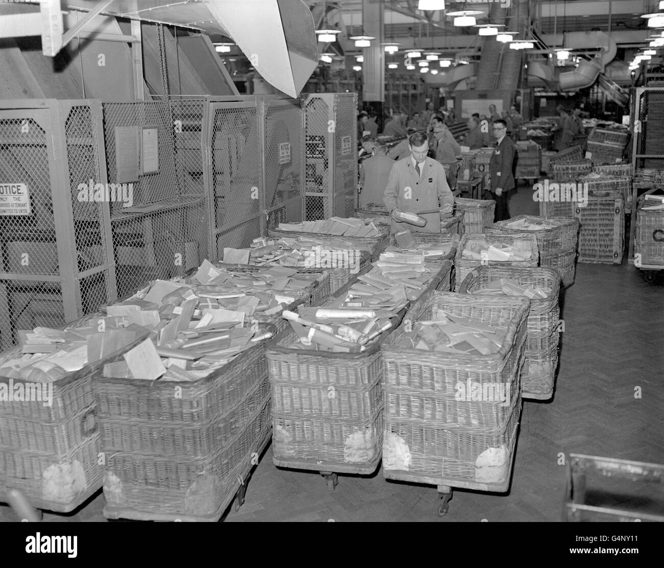 British Postal Service - Royal Mail - Mount Pleasant Sorting Office - London - Stock Image