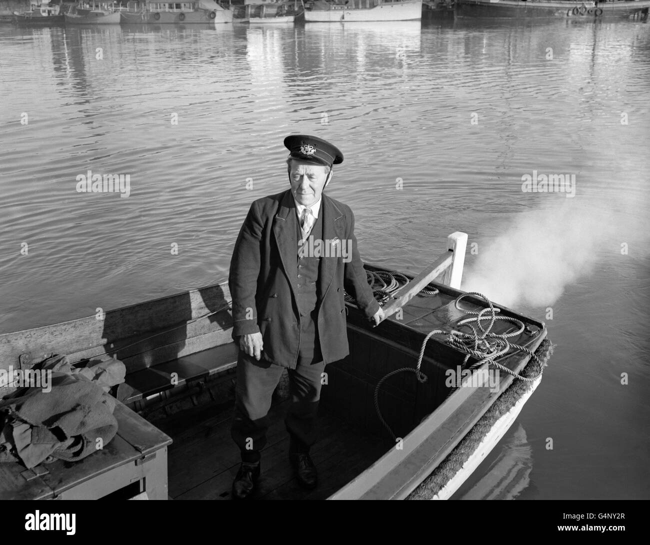 Royal Mail - Boat Postman - Poole Harbour - Stock Image