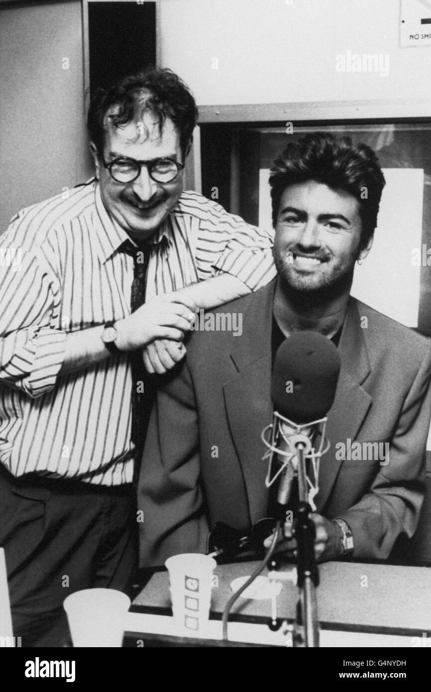 Music - George Michael - BBC Radio 1 - London - Stock Image
