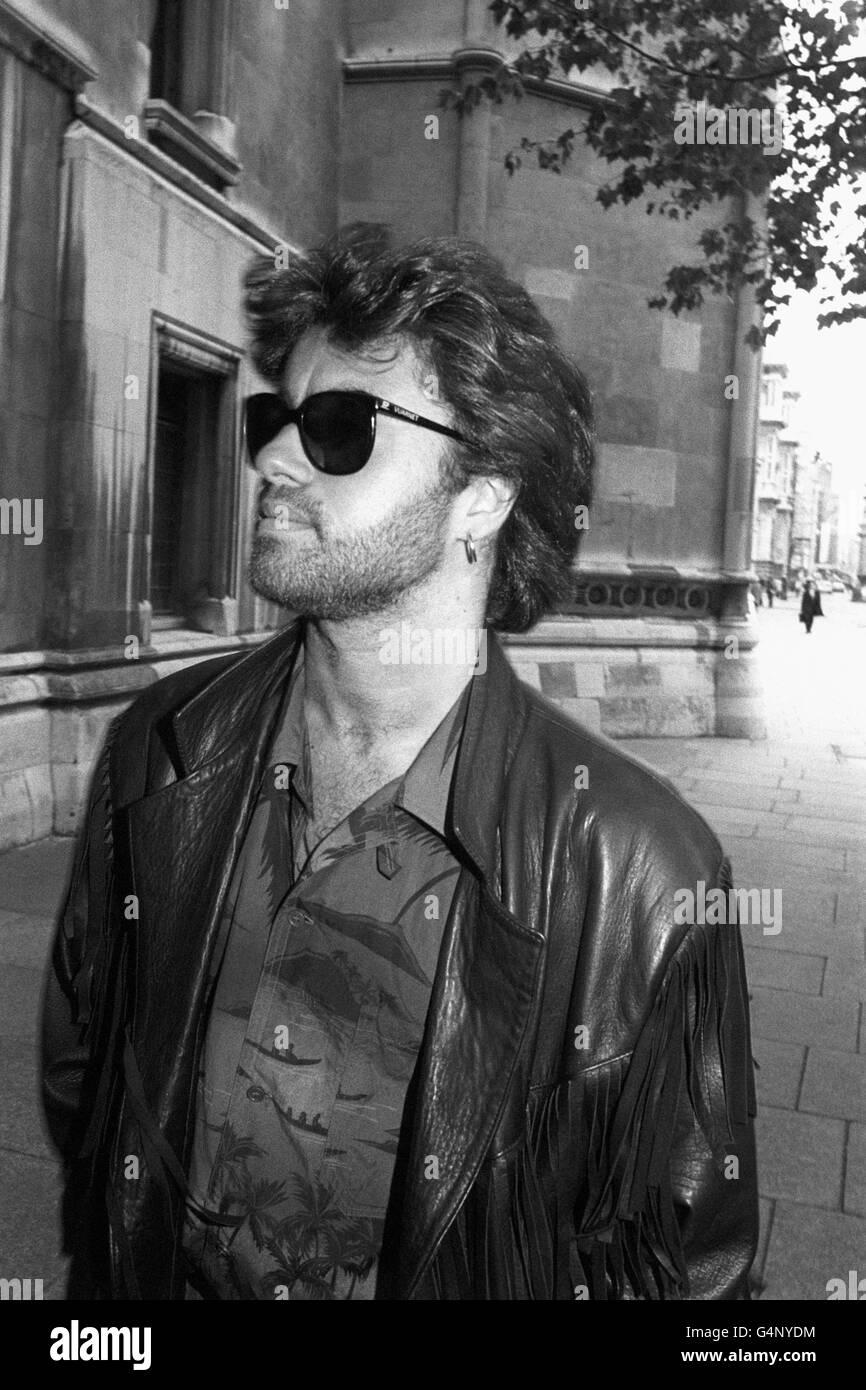 Music - George Michael - High Court, London - Stock Image