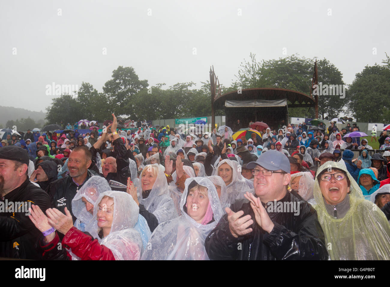"""Windermere, Cumbria, UK. 19th June 2016. to raise funds for the Cumbria Flood Appeal. Last night of weekend """"Rock - Stock Image"""