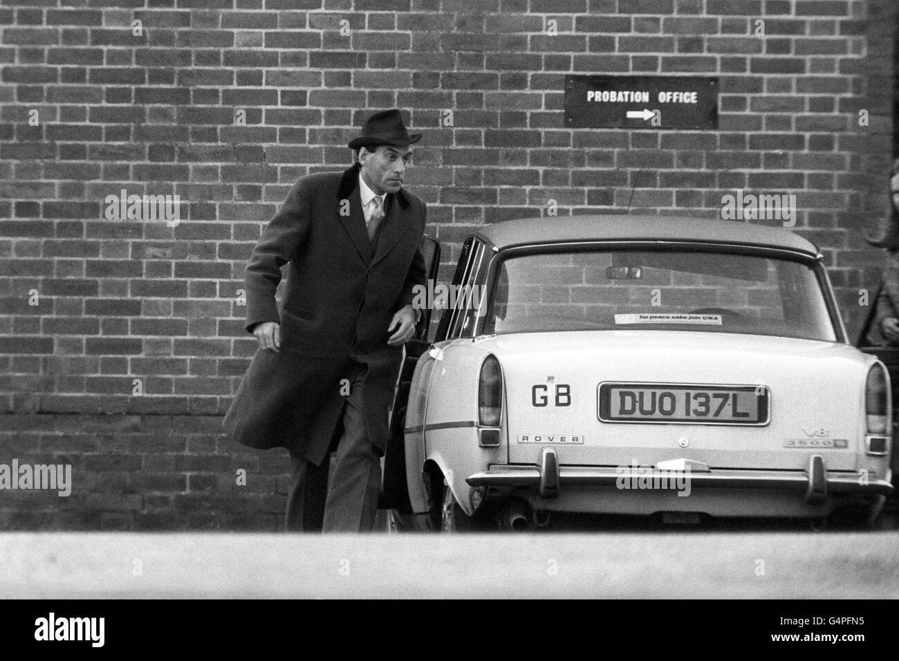 Crime - Attempted Murder - Jeremy Thorpe Hitman Trial - Minehead - Stock Image