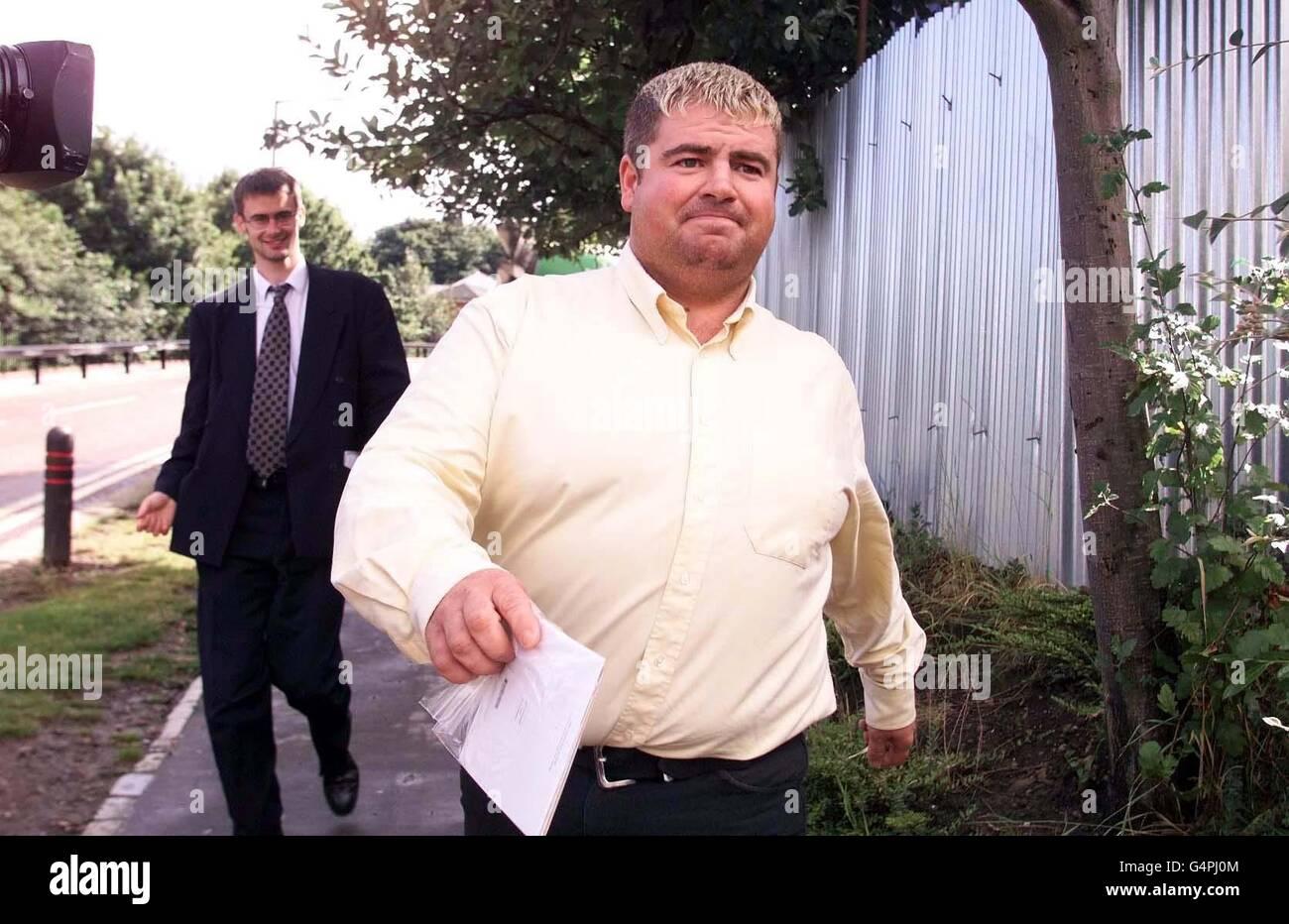 Jimmy Gardner leaves prison - Stock Image