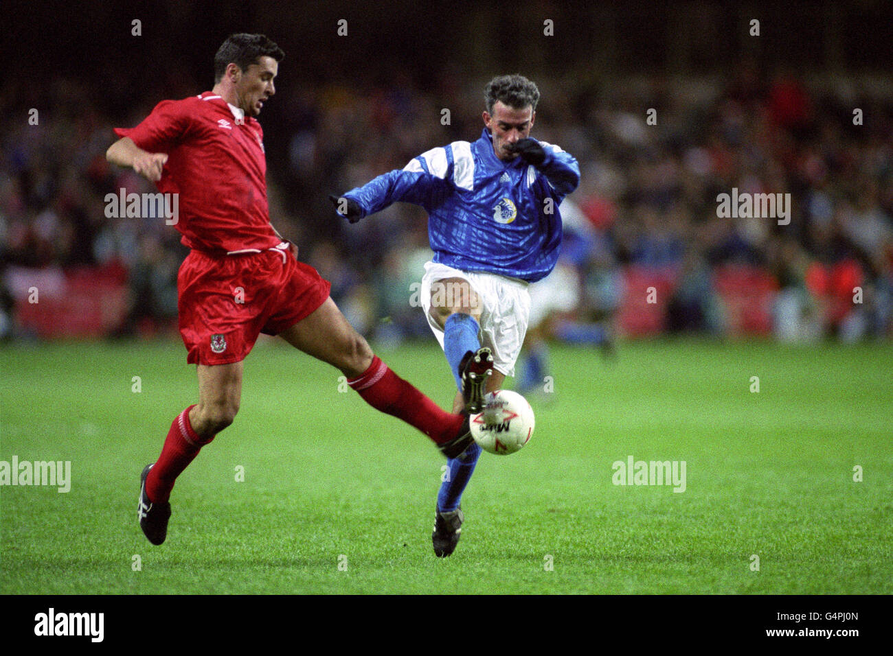 Soccer - World Cup Qualifier - Wales v Cyprus - Stock Image