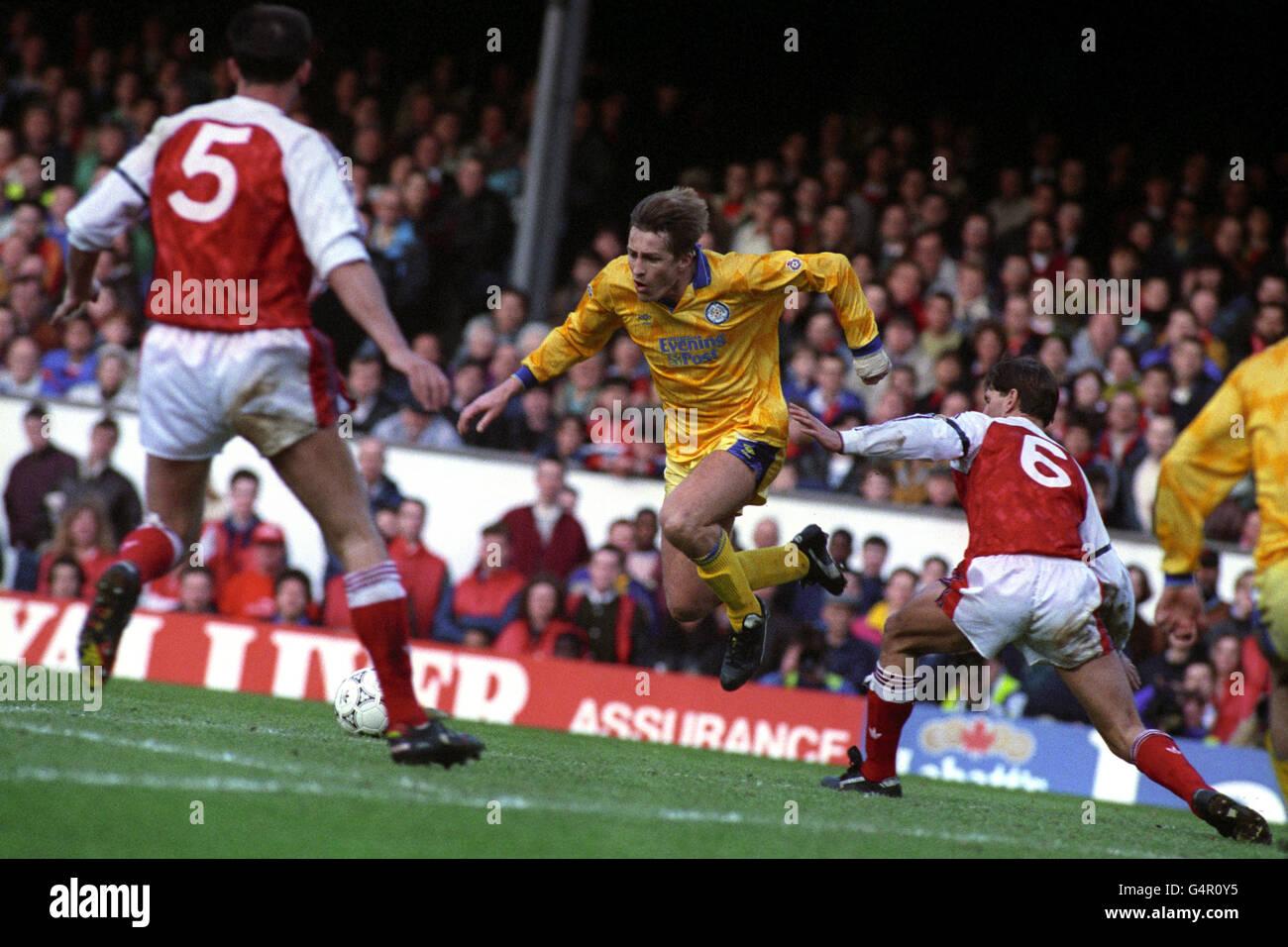 Soccer - Barclays League Division One - Arsenal v Leeds United - Highbury Stadium - Stock Image