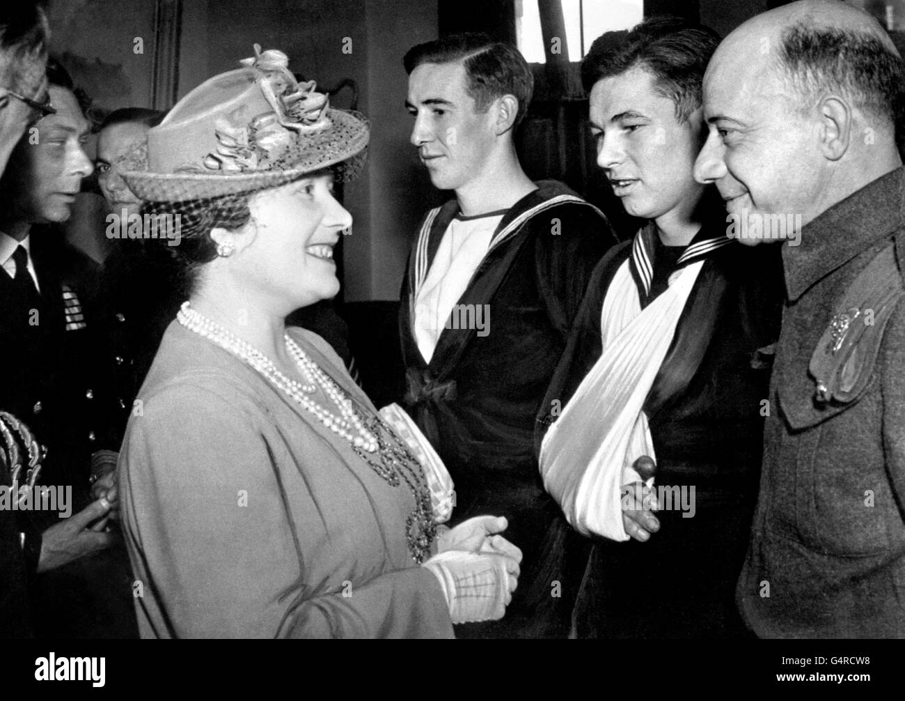 World War Two - UK & Commonwealth - The Home Front - British Royal Family - London - 1943 - Stock Image
