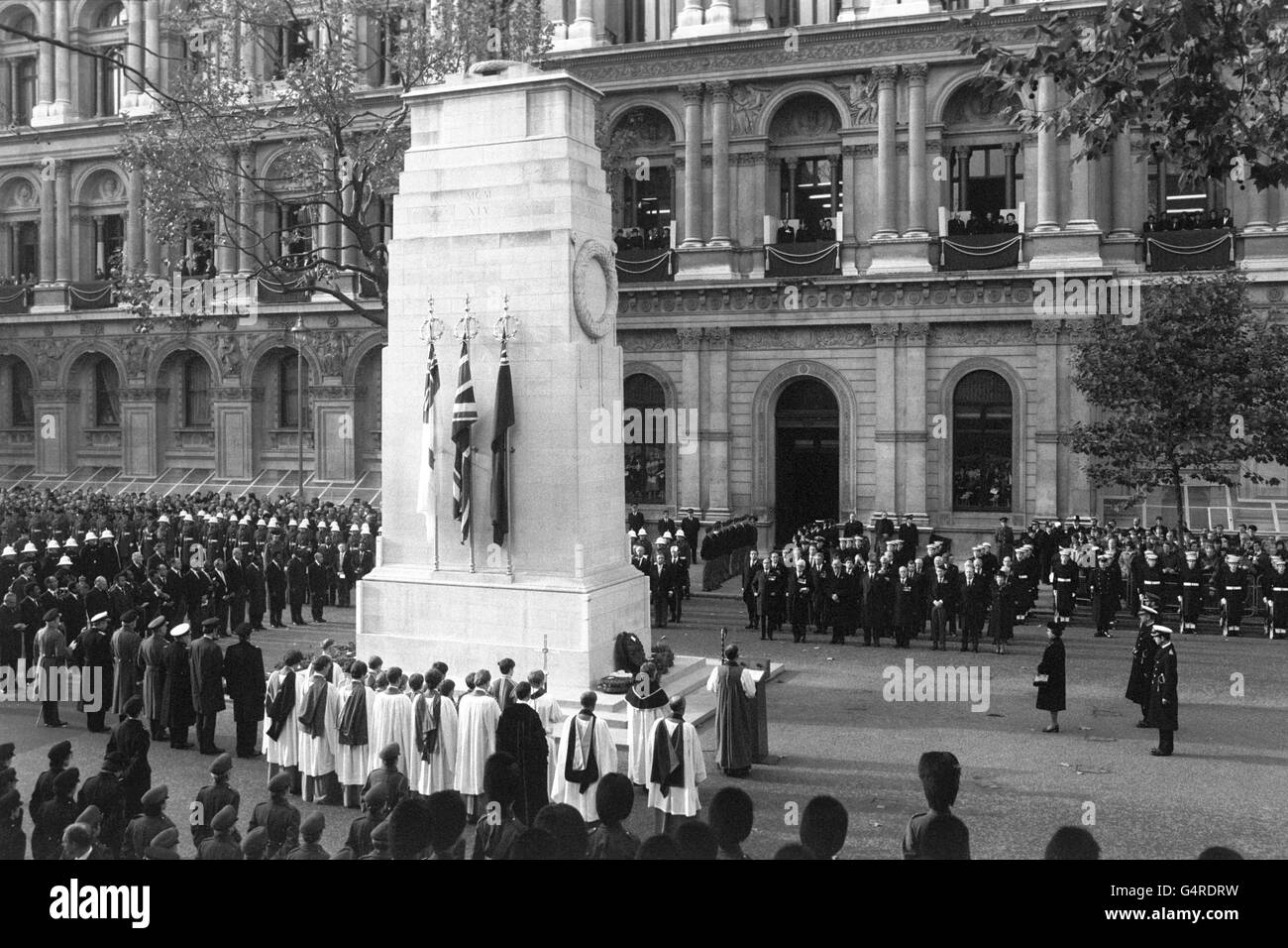 War - Remembrance Day - Cenotaph, London - Stock Image