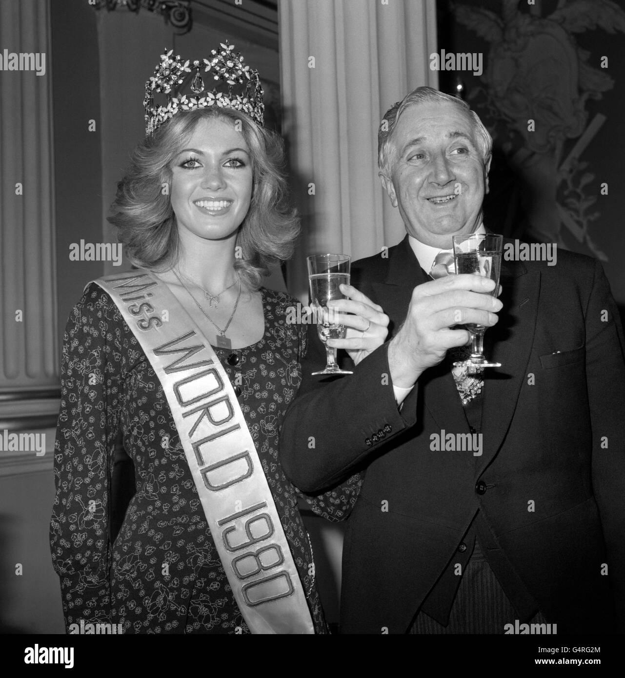 Entertainment - Miss World 1980 - Mansion House, London - Stock Image