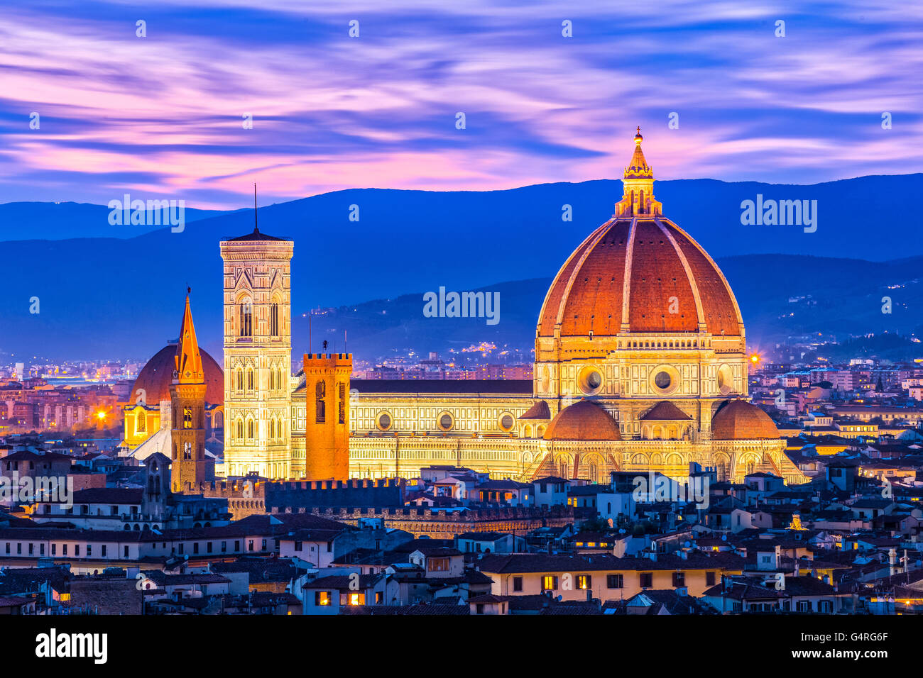 The Duomo of Florence in Tuscany, Italy. - Stock Image