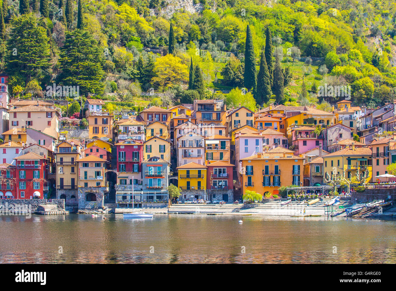 The Varenna on Lake Como in the Province of Lecco, Italy. - Stock Image
