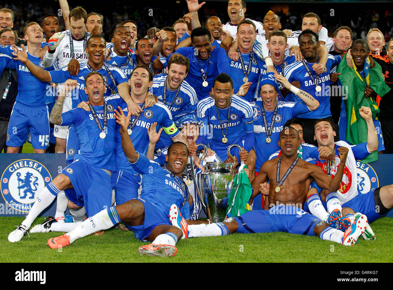FC Chelsea Team Presenting The Champions League Cup 2012 UEFA Final Bayern Munich Vs 4 5