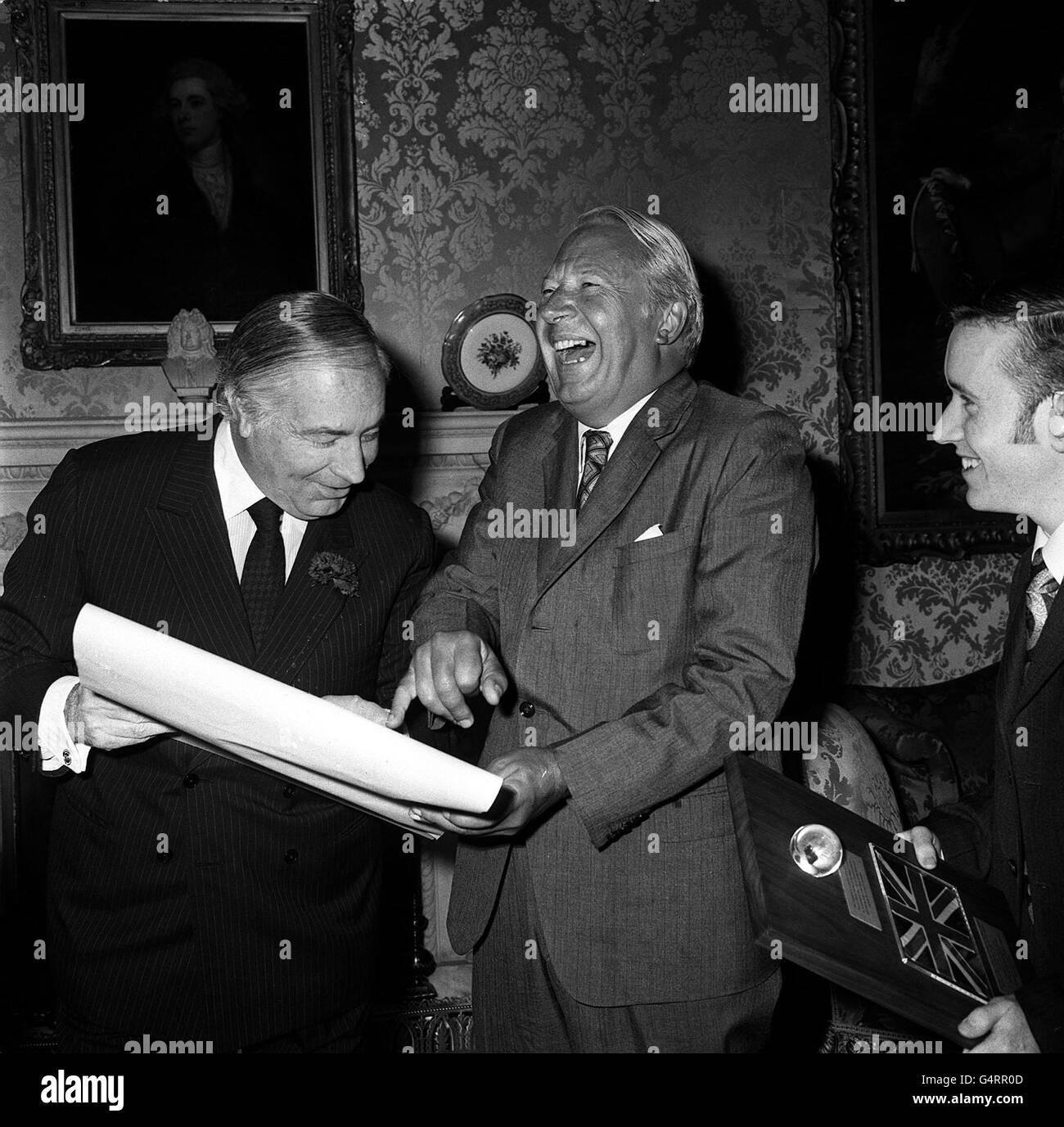 Edward Heath & US Ambassador Walter Annenberg Stock Photo