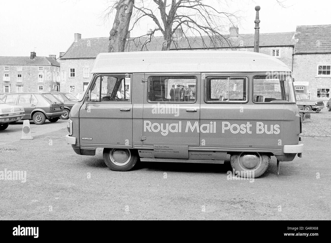 British Postal Service - Mail Stagecoach and Postbus - North Yorkshire - Stock Image
