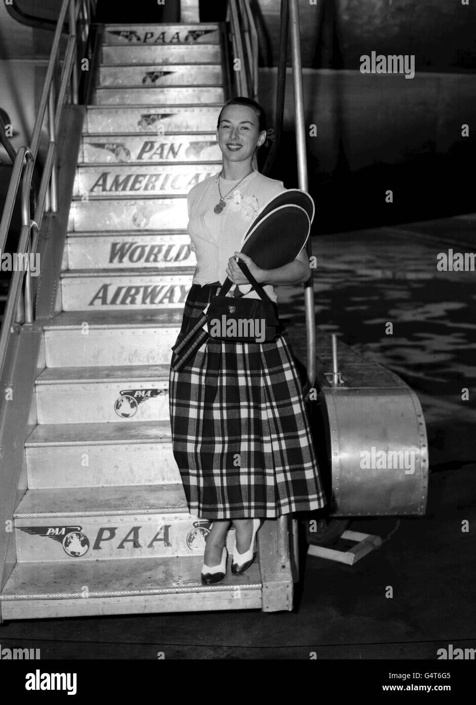 Gertrude Moran - London Airport - Stock Image