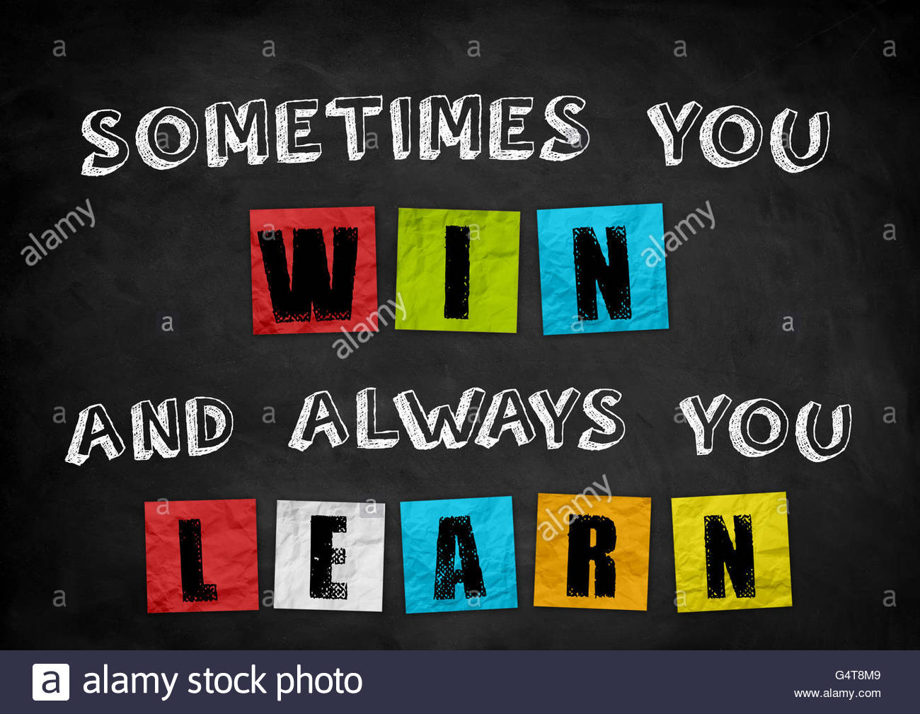 sometimes you win - and always you learn - Stock Image