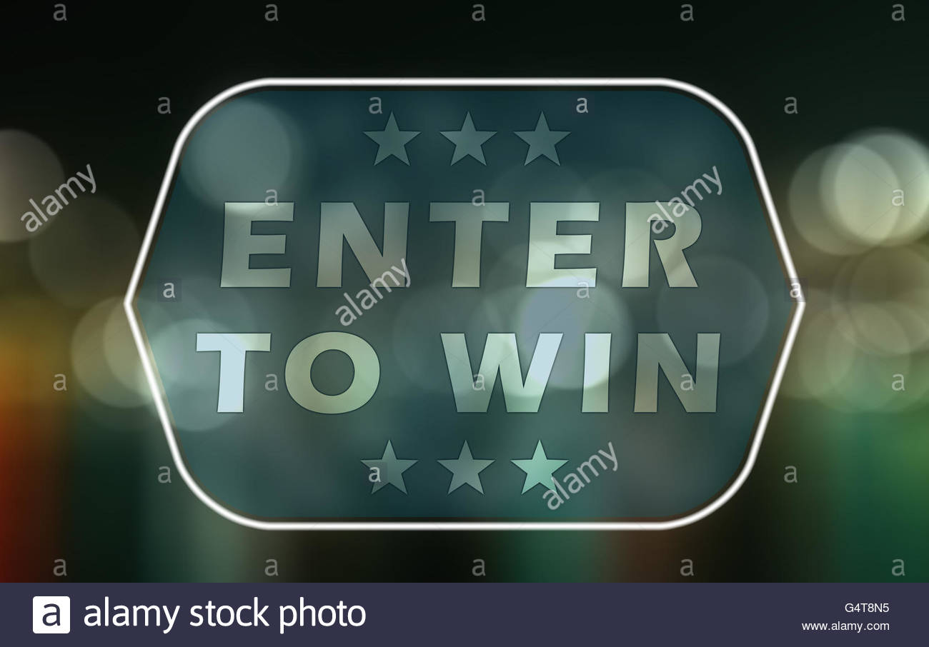 Enter to win - Stock Image
