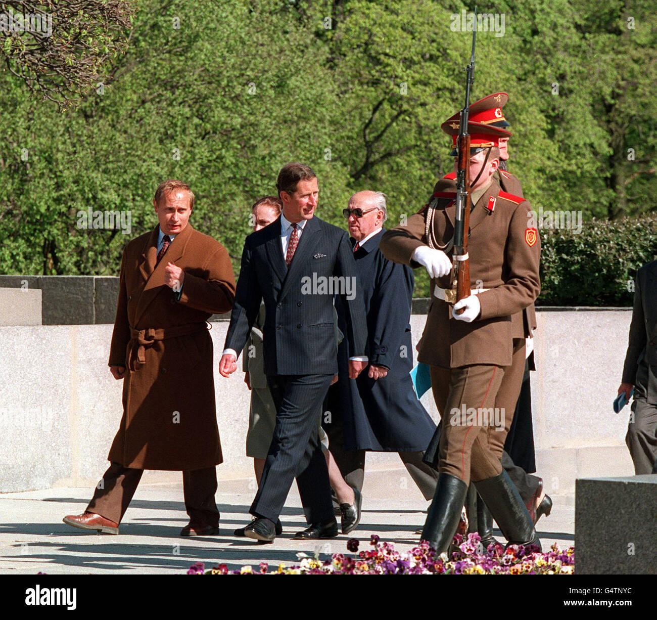 Prince Charles & Vladimir Putin - Stock Image