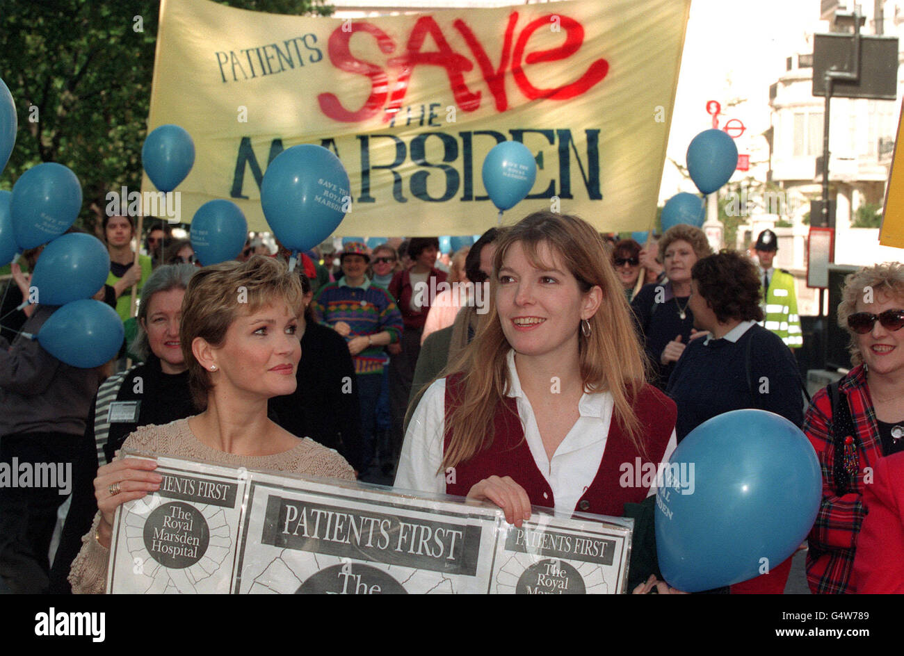 Actresses Fiona Fullerton and Jemma Redgrave Stock Photo