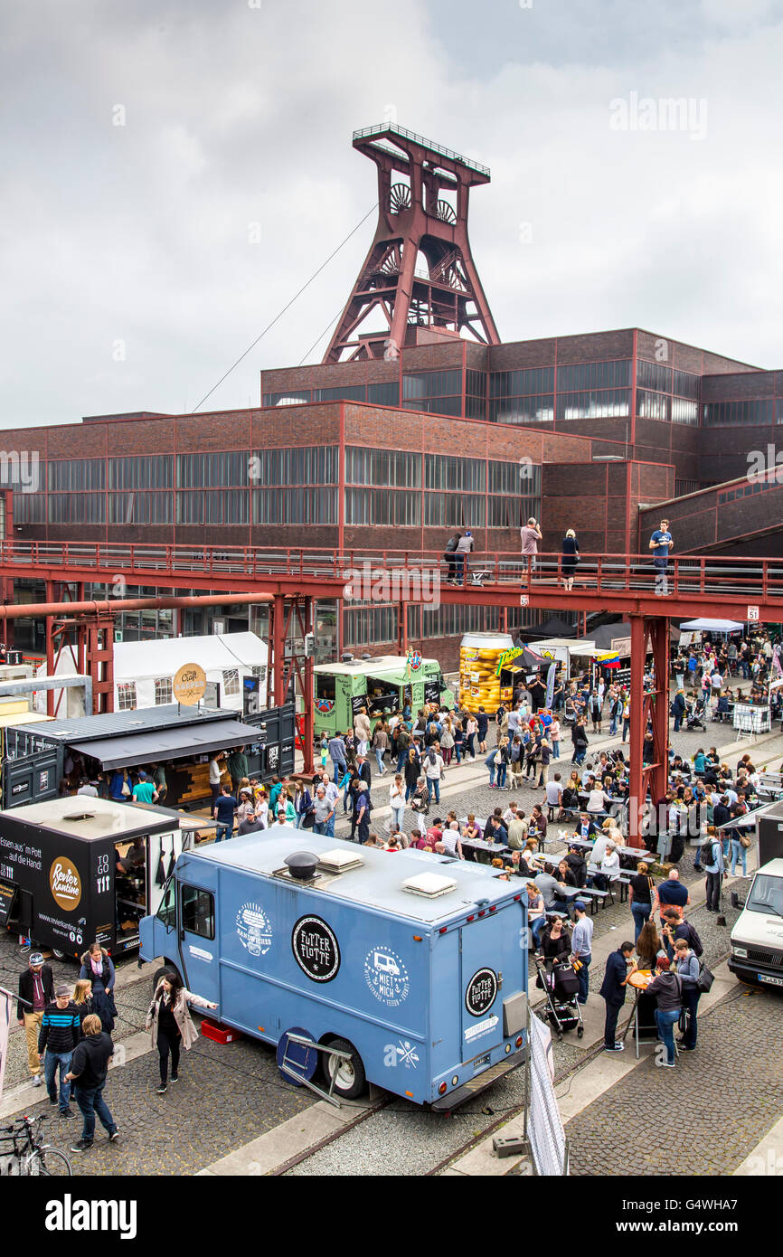 food festival food truck festival at zeche zollverein essen stock photo 106283247 alamy. Black Bedroom Furniture Sets. Home Design Ideas
