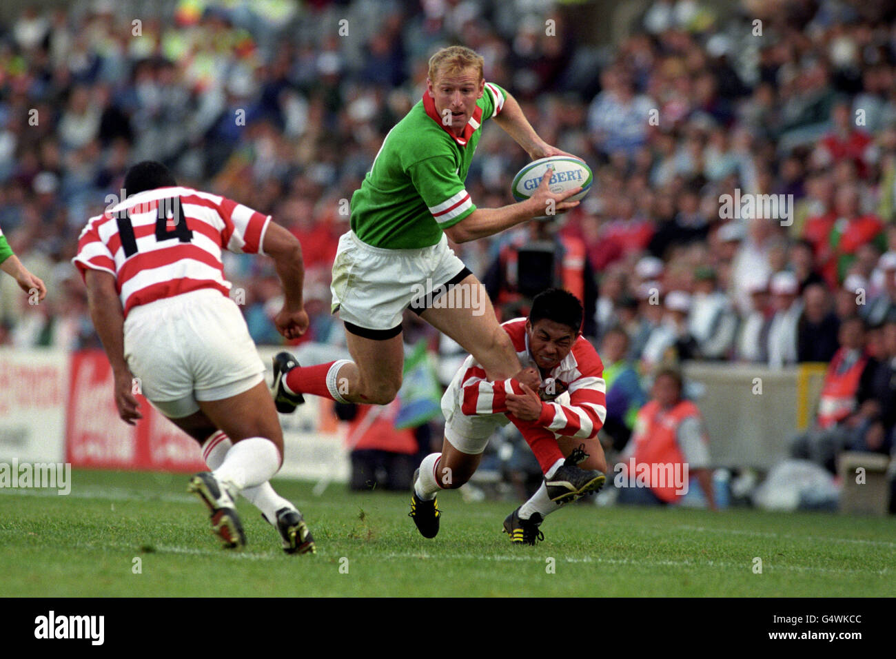 Rugby Union - World Cup 1995 - Pool C - Wales v Japan - Free State Stadium, Bloemfontein Stock Photo