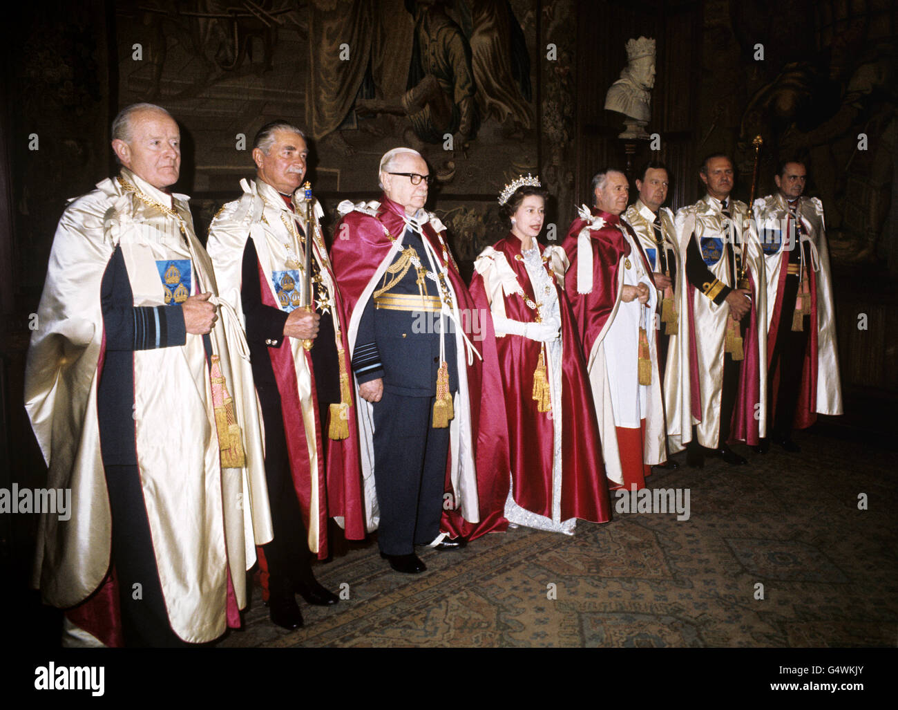 Royalty - Order of the Bath - Westminster Abbey - Stock Image