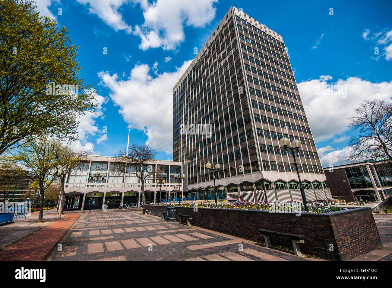 The Civic Centre is the home of the Southend Borough Council offices and other local services - Stock Image
