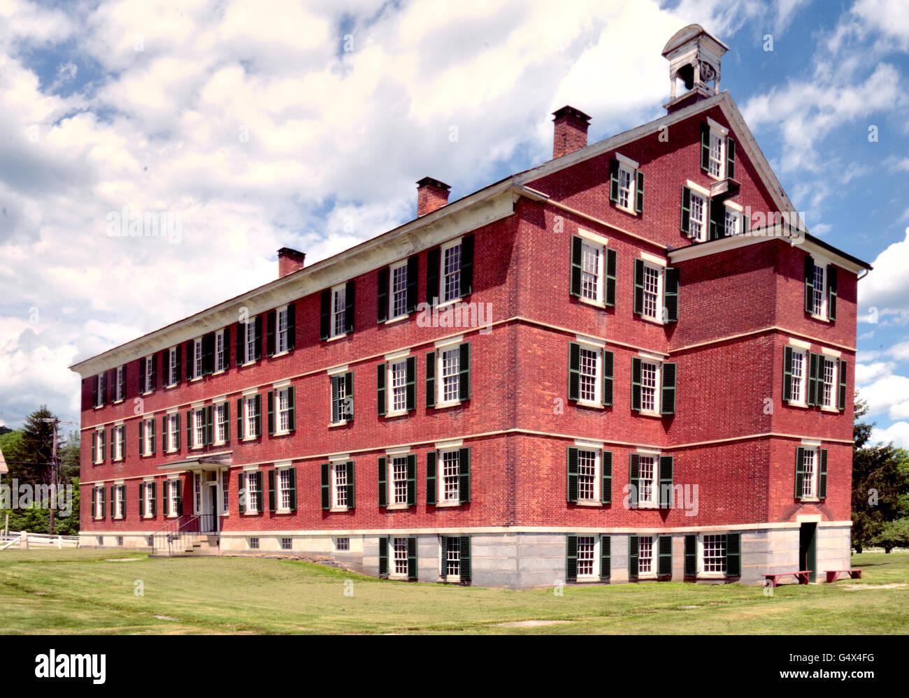 Communal Housing, Hancock Shaker Village, Massachusetts - Stock Image