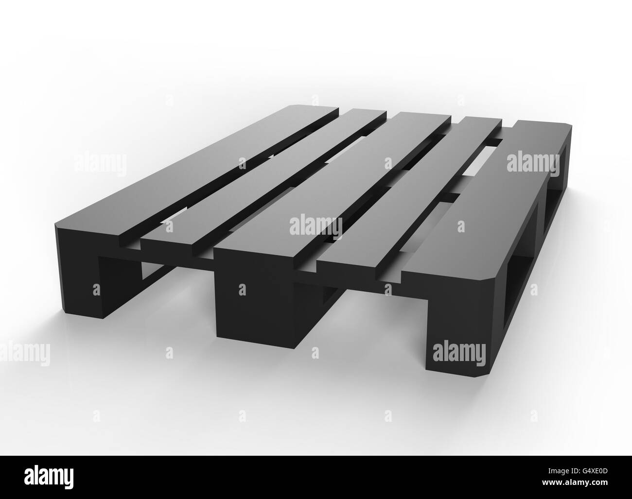 pallet isolated on a white back ground - Stock Image