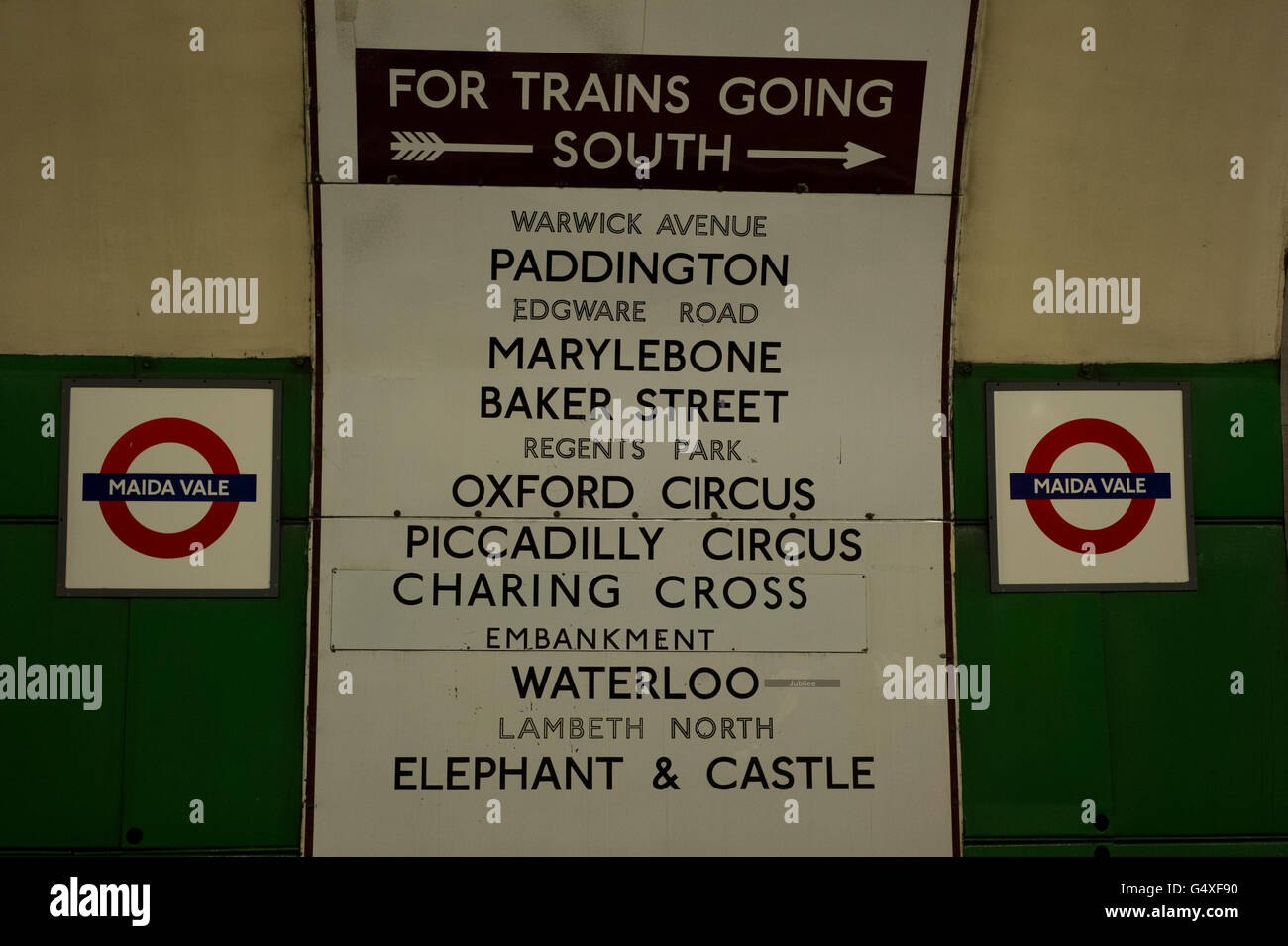 Maida Vale Underground Station - Stock Image