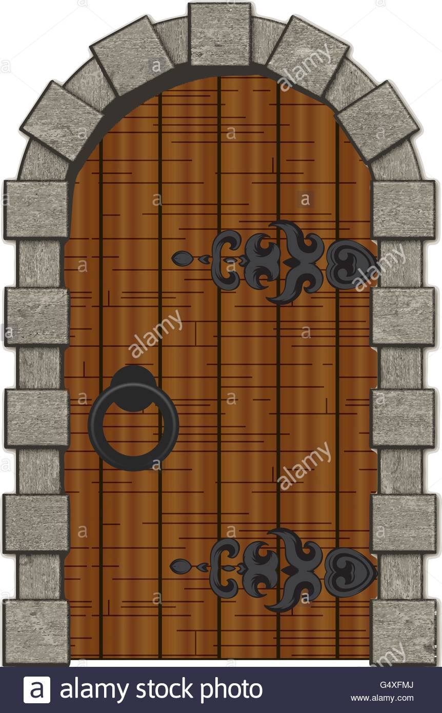 Old wooden vintage doors - Stock Vector - Old Antique Doors Stock Vector Images - Alamy