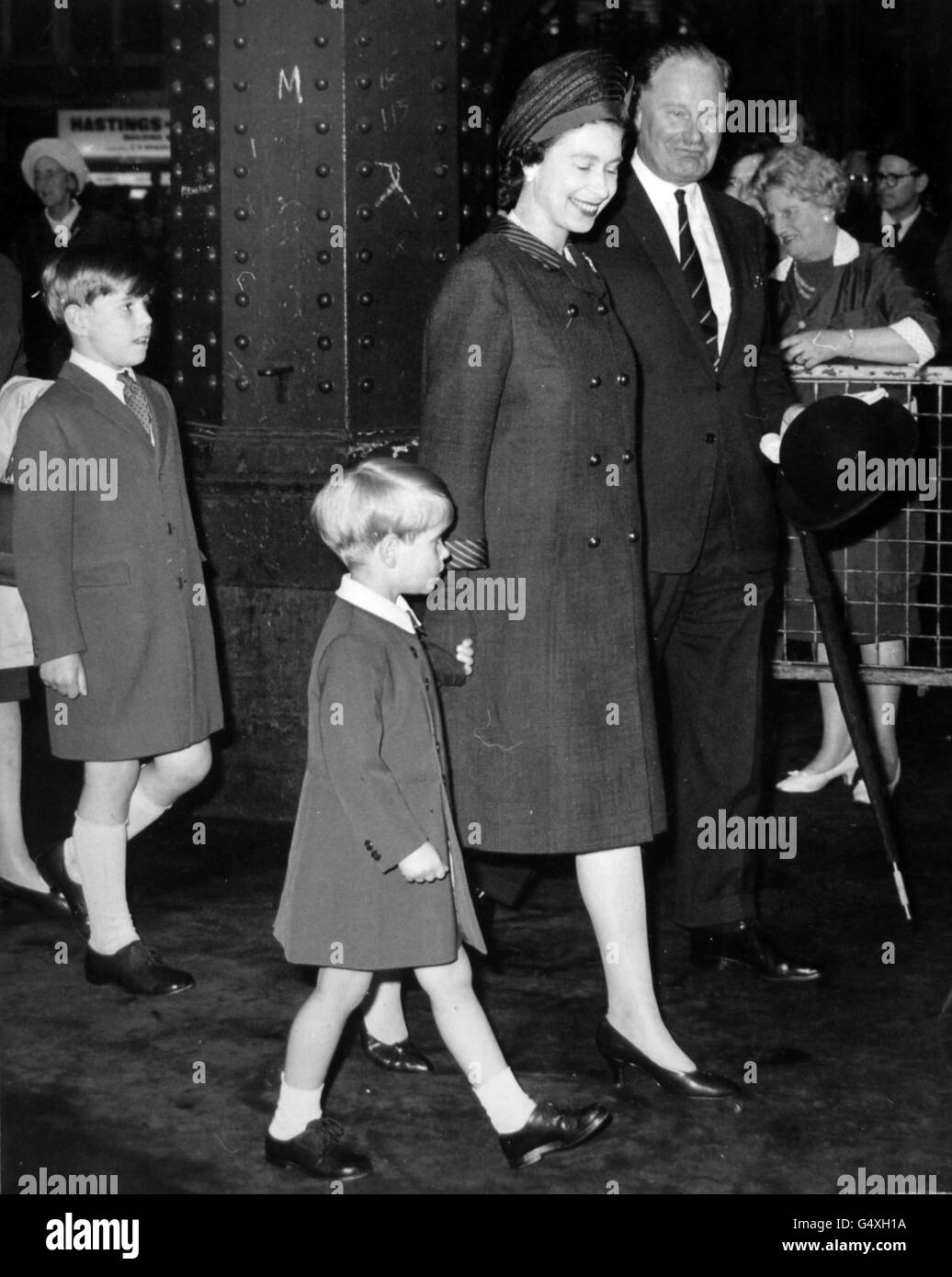 Royalty - Queen Elizabeth II - Cowes, Isle of Wight - Stock Image