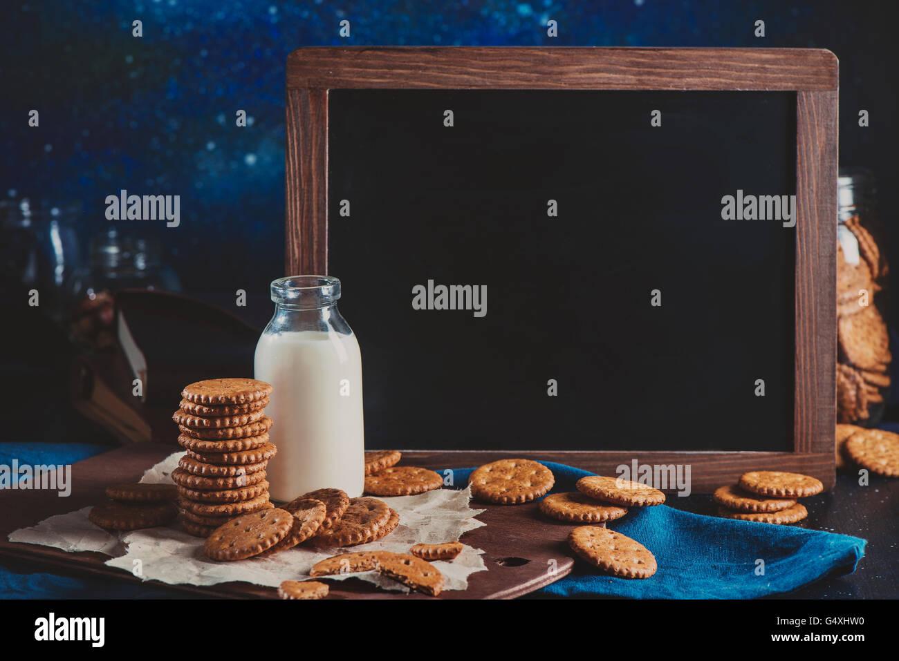 Schoolkid breakfast - Stock Image