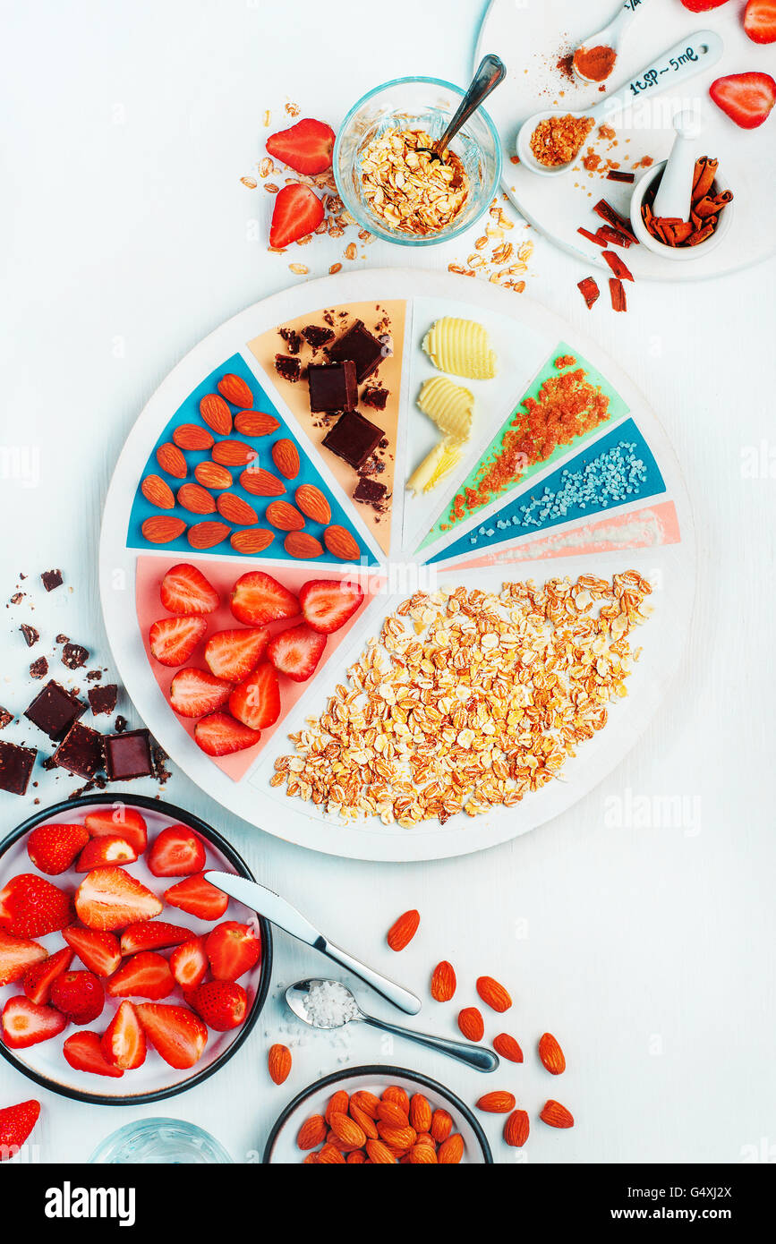 What's for breakfast (strawberry oatmeal) - Stock Image