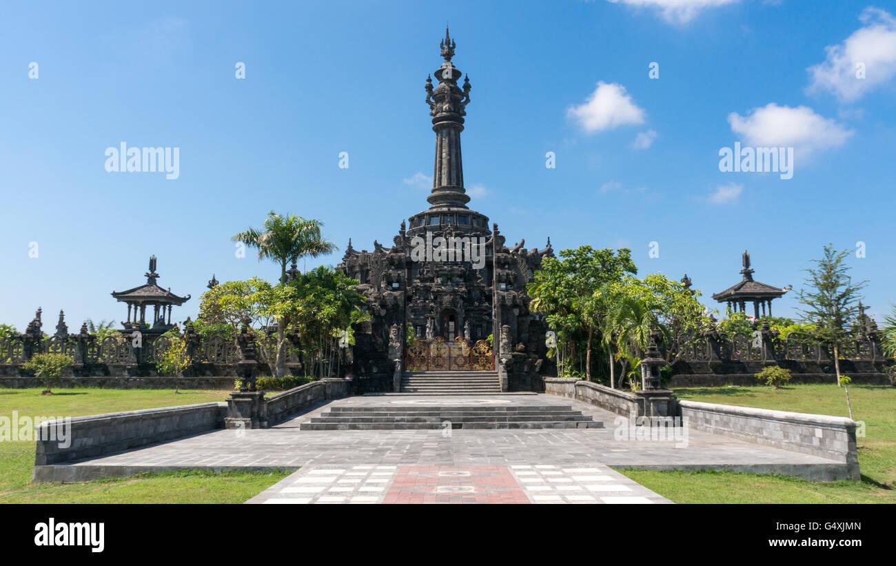 Bajra Sandhi Monument in Denpasar, Bali on a Sunny Day - Stock Image
