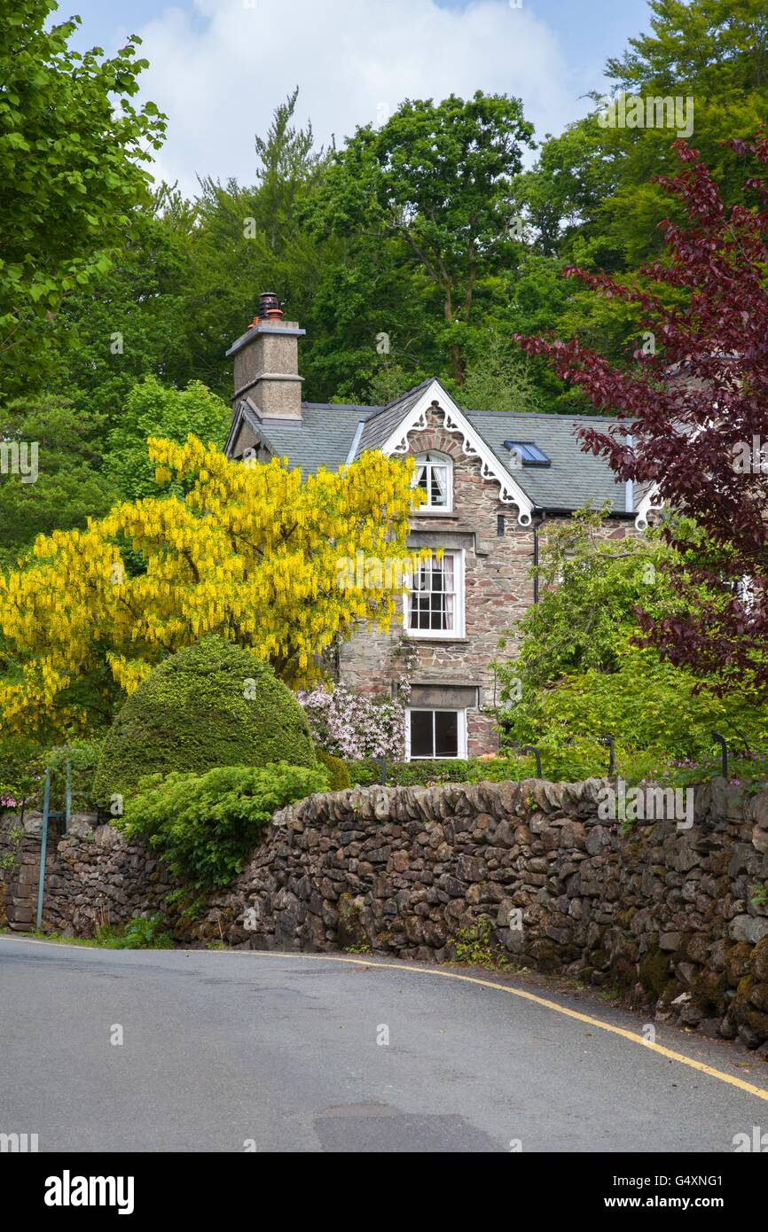 Cumbrian house, Grasmere, The Lake District, Cumbria, England. - Stock Image