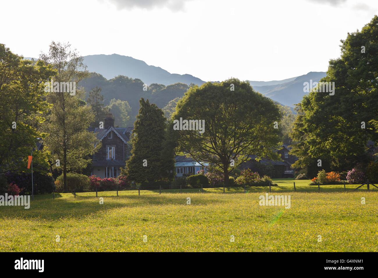 Grasmere village, lake District, Cumbria, England - Stock Image