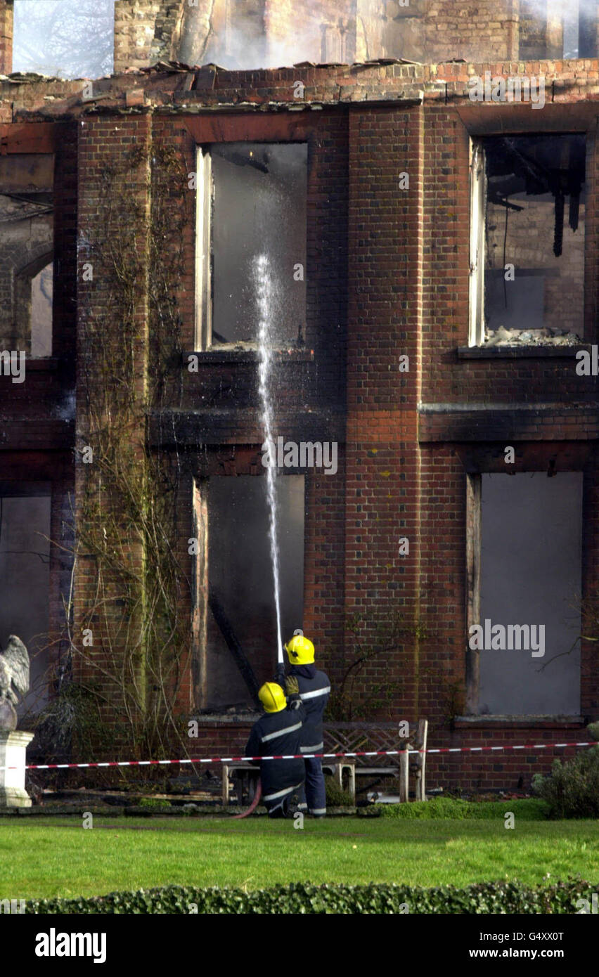 Tangley House Fire - Stock Image