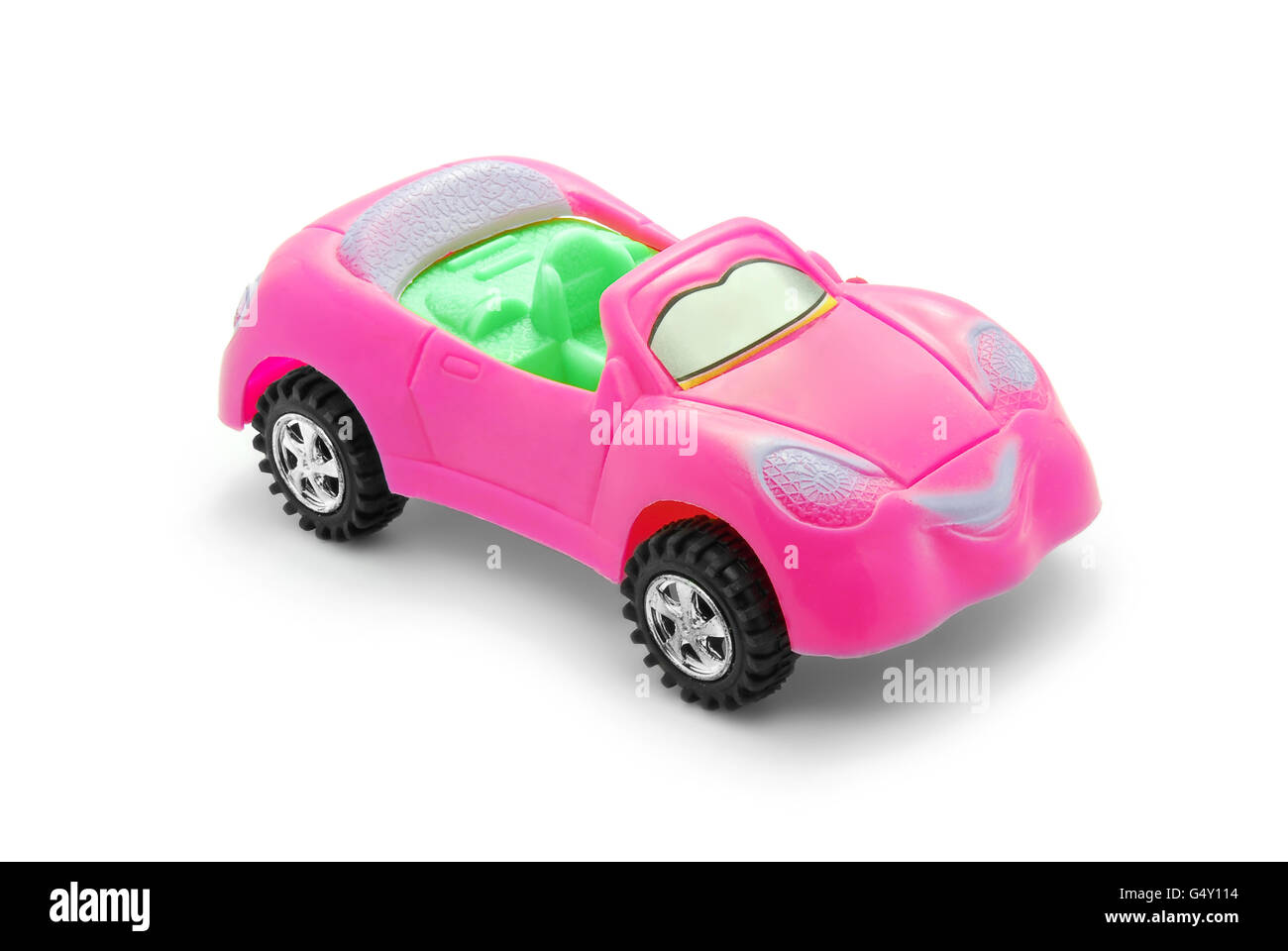 pink toy car Stock Photo