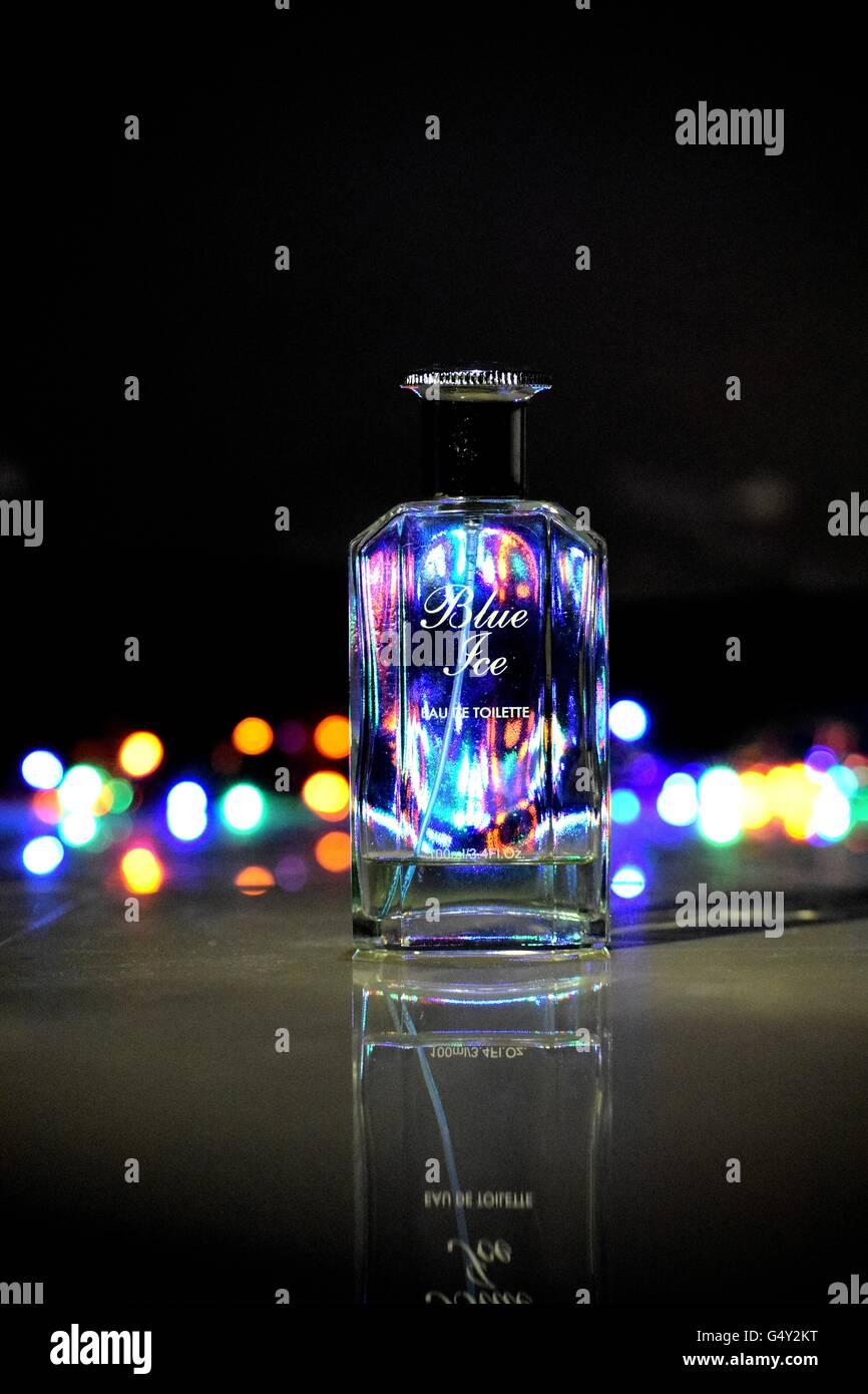 still life perfume bottle - Stock Image