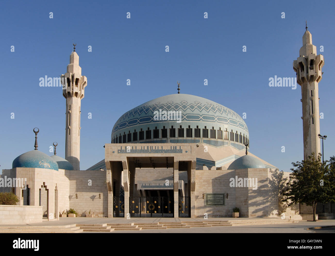 JORDAN, Amman, King I. Abdullah mosque / JORDANIEN, Amman, Koenig Abdullah Moschee - Stock Image