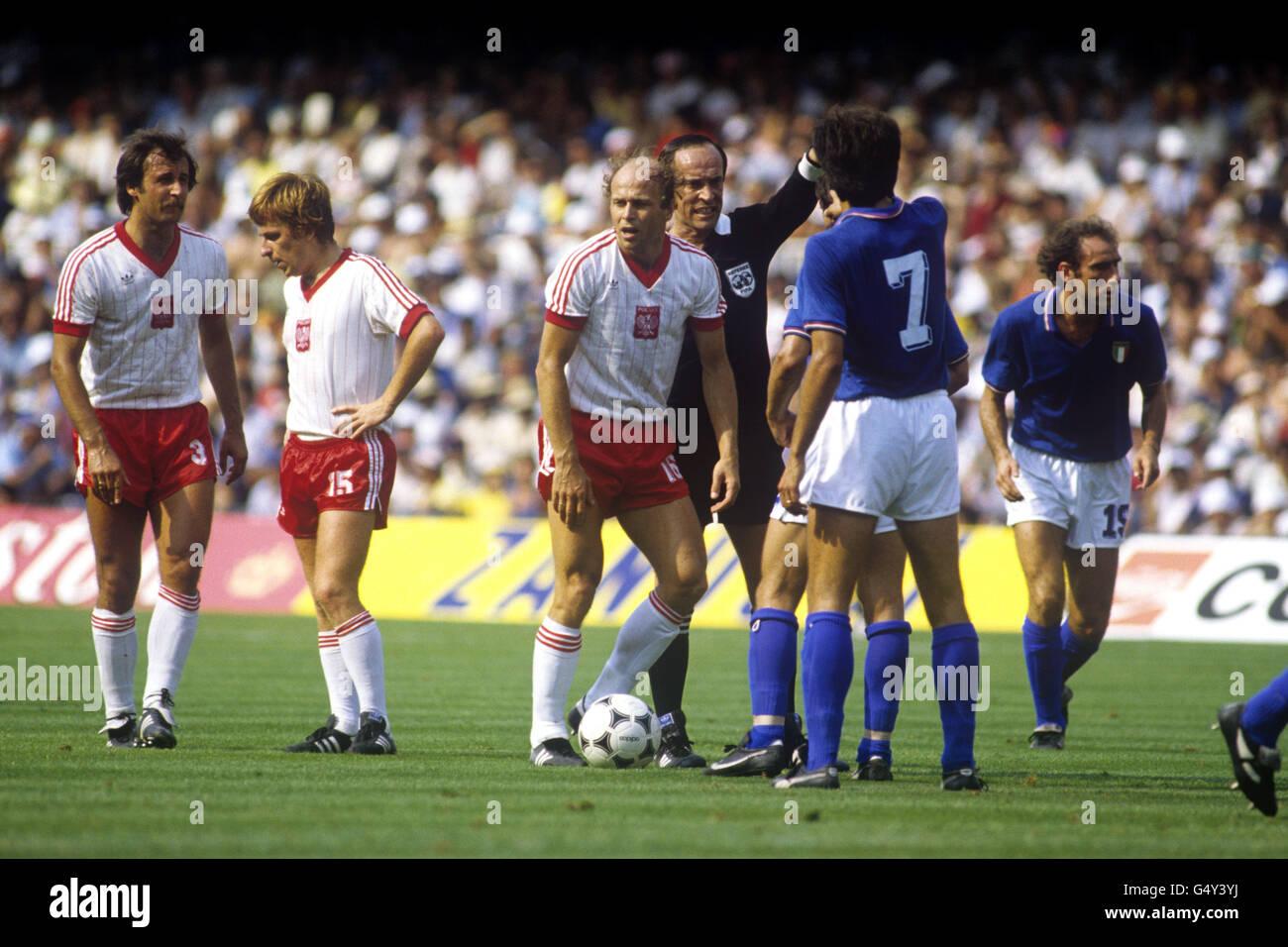 Soccer - FIFA World Cup Spain 82 - Semi Final - Poland v Italy - Camp Nou, Barcelona Stock Photo
