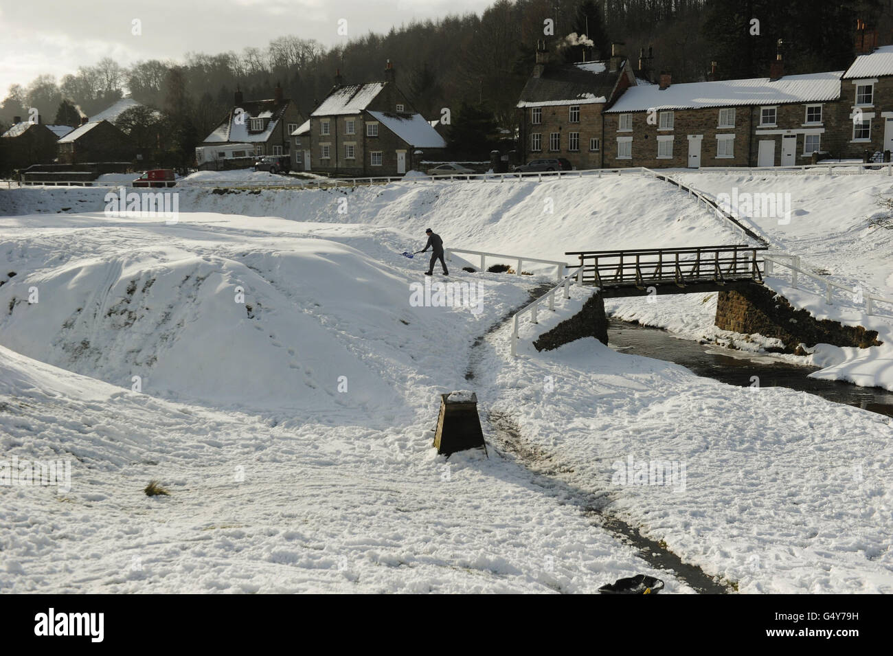 Winter weather Feb 7 - Stock Image