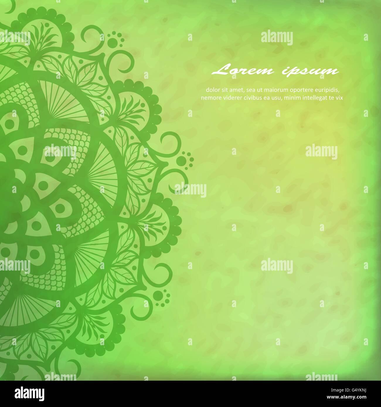 Vector Beautiful Deco Mandala - Stock Image